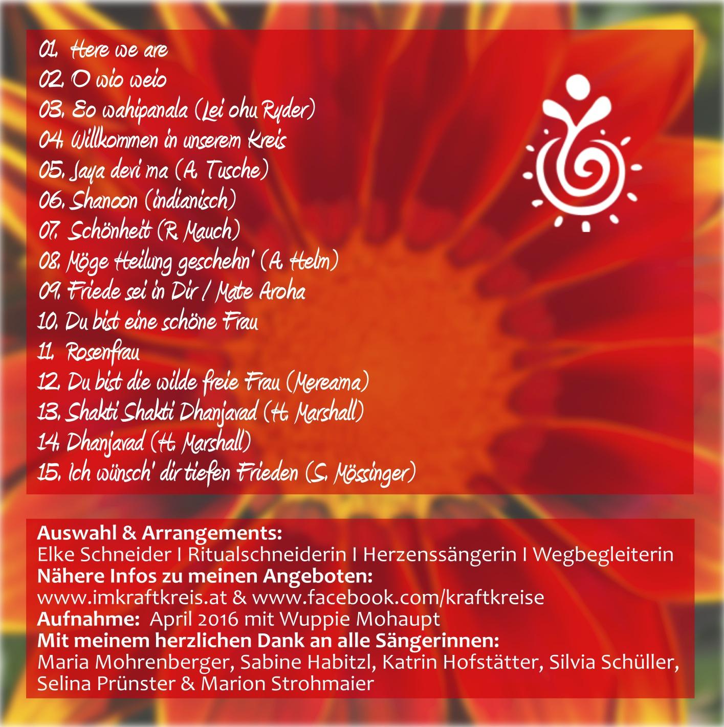 CD Willkommen im Frauenkreis  imKraftkreis